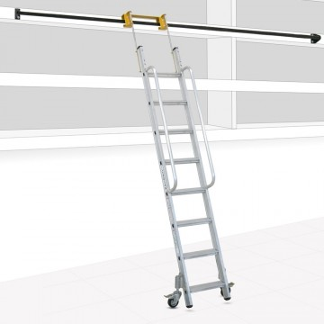 Sliding Ladder for Shelves