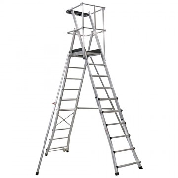 Telescopic Folding Platform Ladder