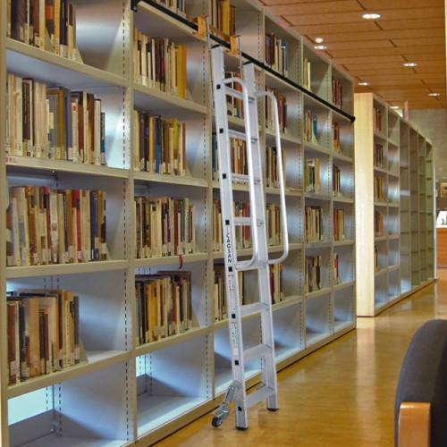 Sliding Ladder For Shelves Industrial Ladders
